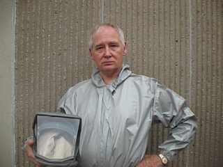 John Henley,Wardrobe: Hazmat suit