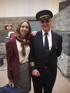 John Henley,Wardrobe: Airline Pilot and stewardess
